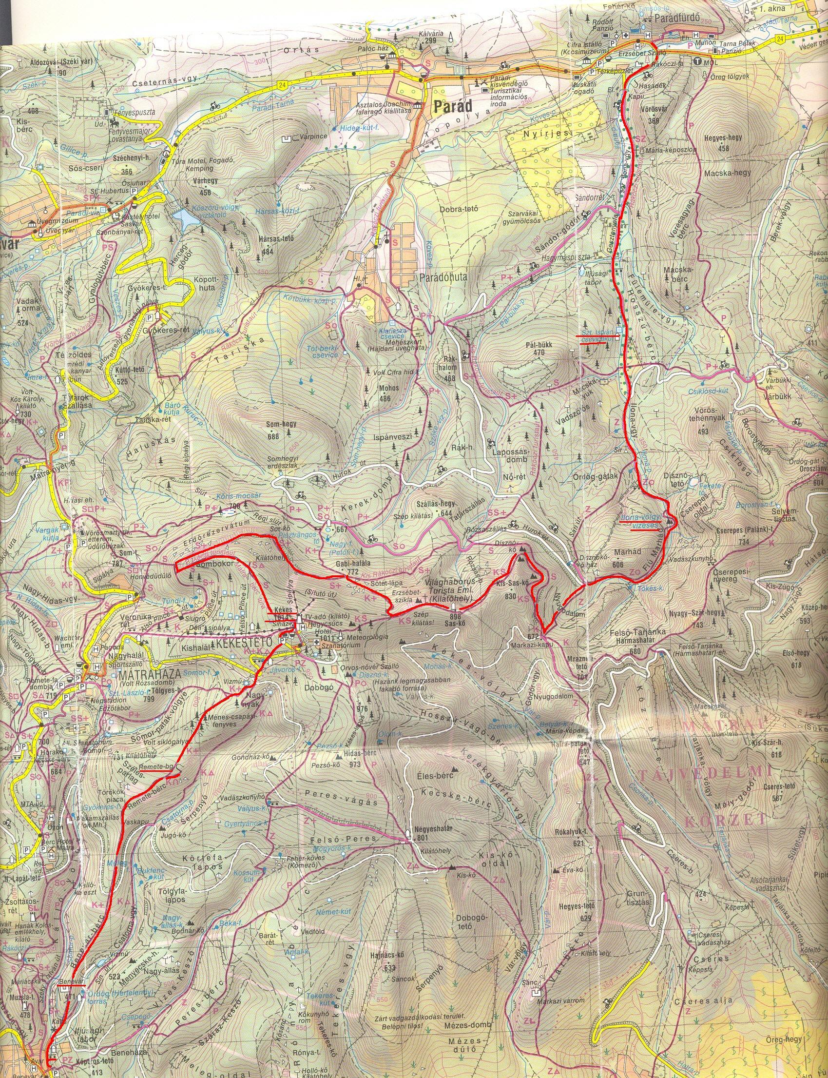 kékestető térkép Hatodik túra   Mátra, Kékes   Sárvári Tinódi kékestető térkép